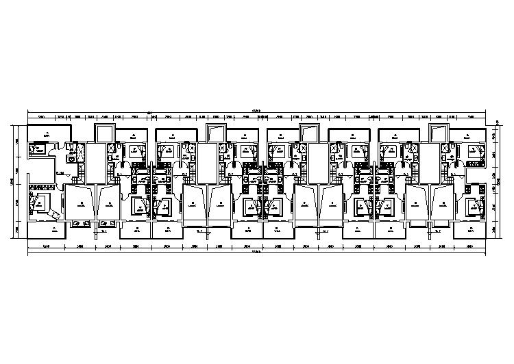 疊墅區六層平面圖