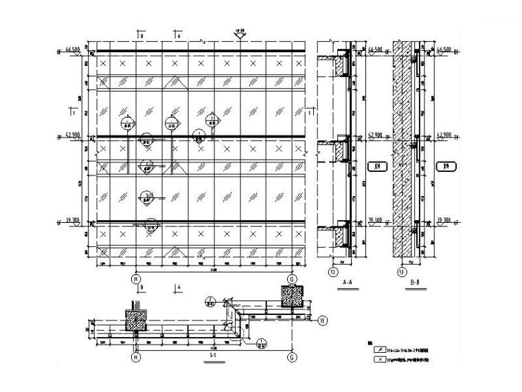 单元式幕墙系统-横明小扣盖