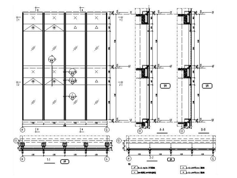 单元式幕墙系统-横隐竖明