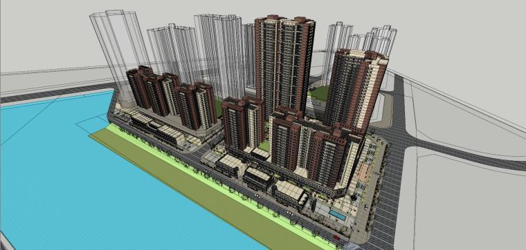 新古典风格住宅建筑模型设计
