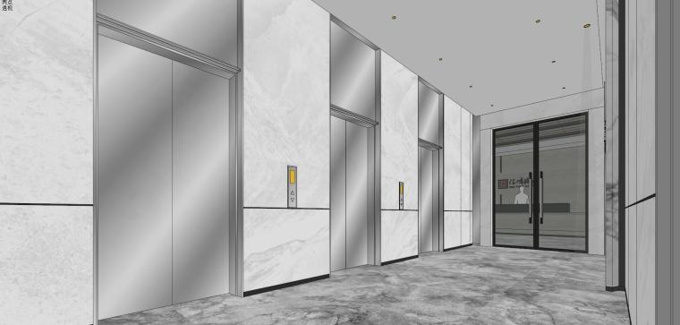 汇峰地产办公室室内模型设计