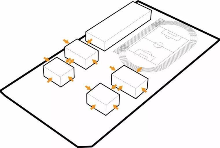 方形的组合,产生多层次的互动空间_27
