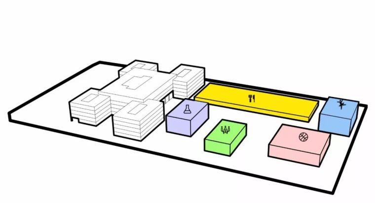 方形的组合,产生多层次的互动空间_28