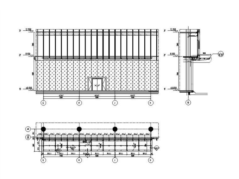 雨棚系统标准图