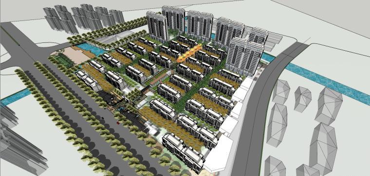 [上海]新古典洋房居住区建筑模型