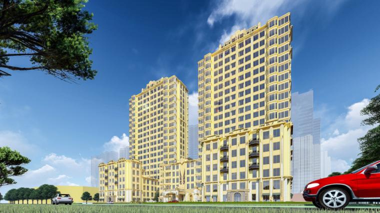 欧陆风格金象大酒店建筑模型设计