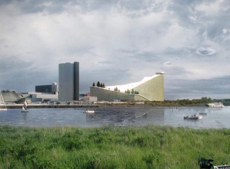 哥本哈根郊区市民娱乐中心建筑方案图