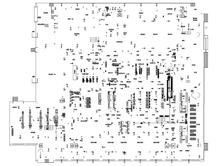 航空食品楼弱电图含招标、技术文件_2019-贵阳机场航食弱电消防监控平面图