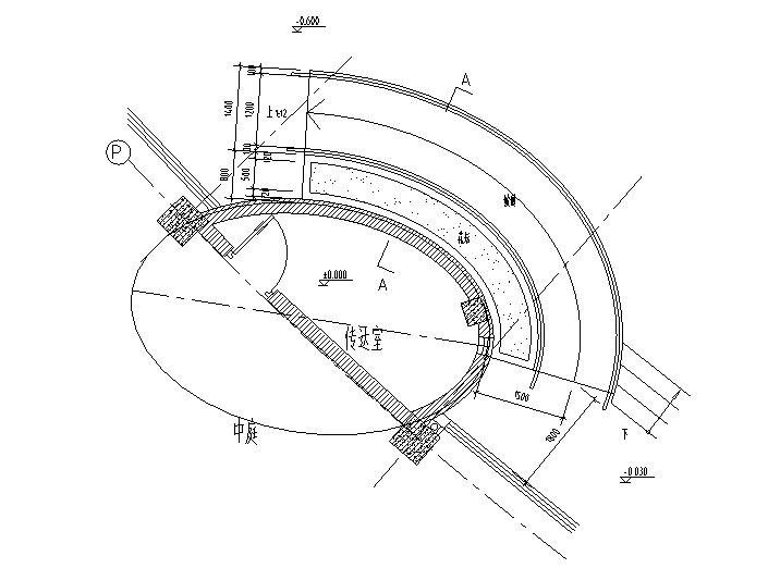 残疾人坡道设计大样详图(CAD)