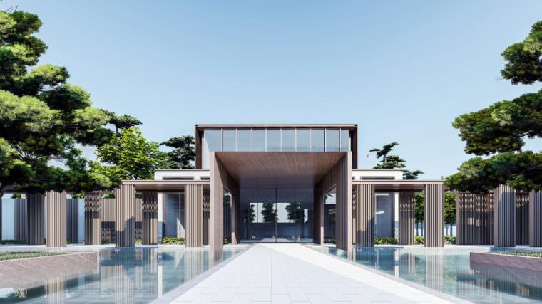 [河南]绿都·金樾公馆售楼处示范区建筑模型
