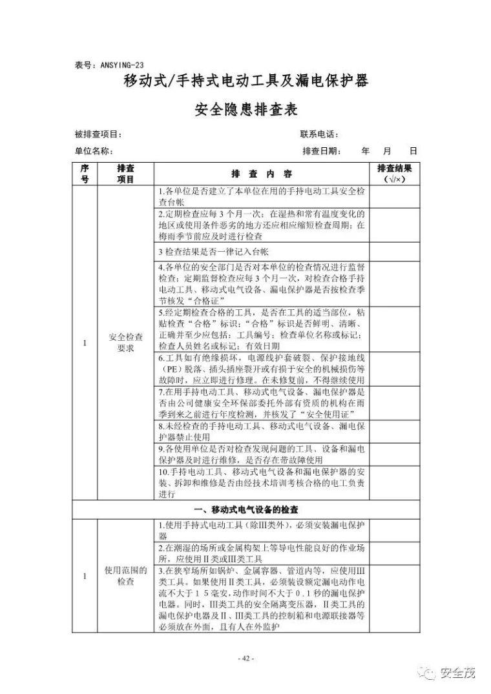 超全的安全生产事故隐患排查手册 2019新_42