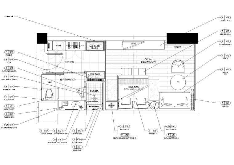 喜来登酒店2019客房样板间设计标准施工图