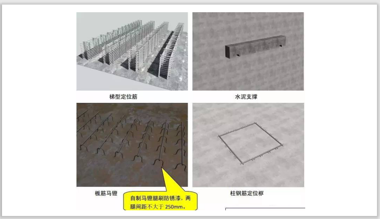 钢筋样板工程施工质量标准化做法