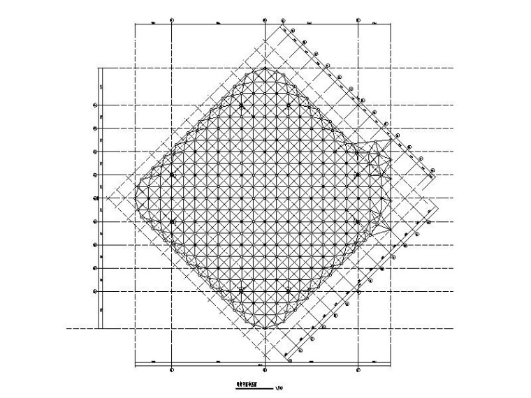 螺栓球网架结构钢屋盖结构施工图2016