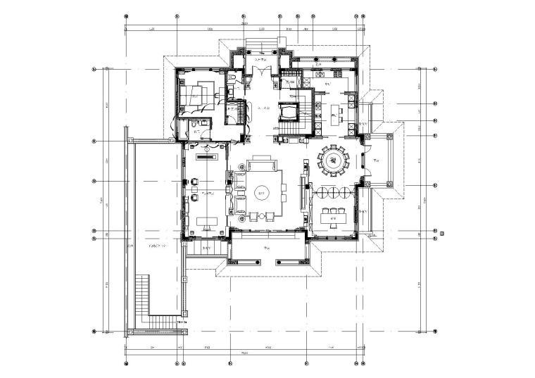 [福州]-百督府新中式风格别墅施工图+效果图