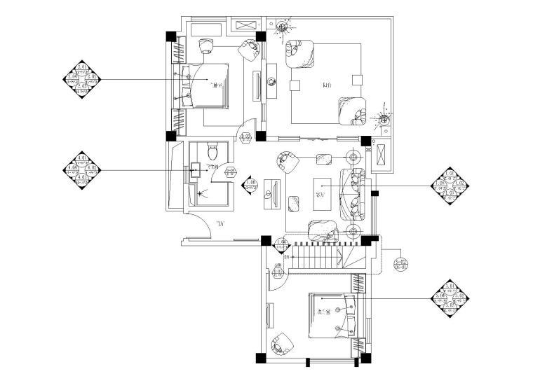 [云南]高文安-大理王宫别院中叠户型施工图