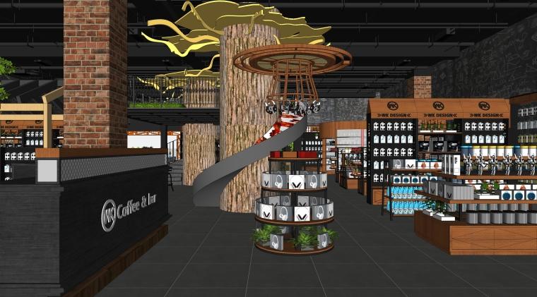 现代风格零售空间室内SU模型设计(2)