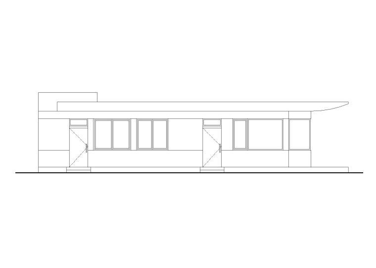 门卫建筑设计施工图(CAD)