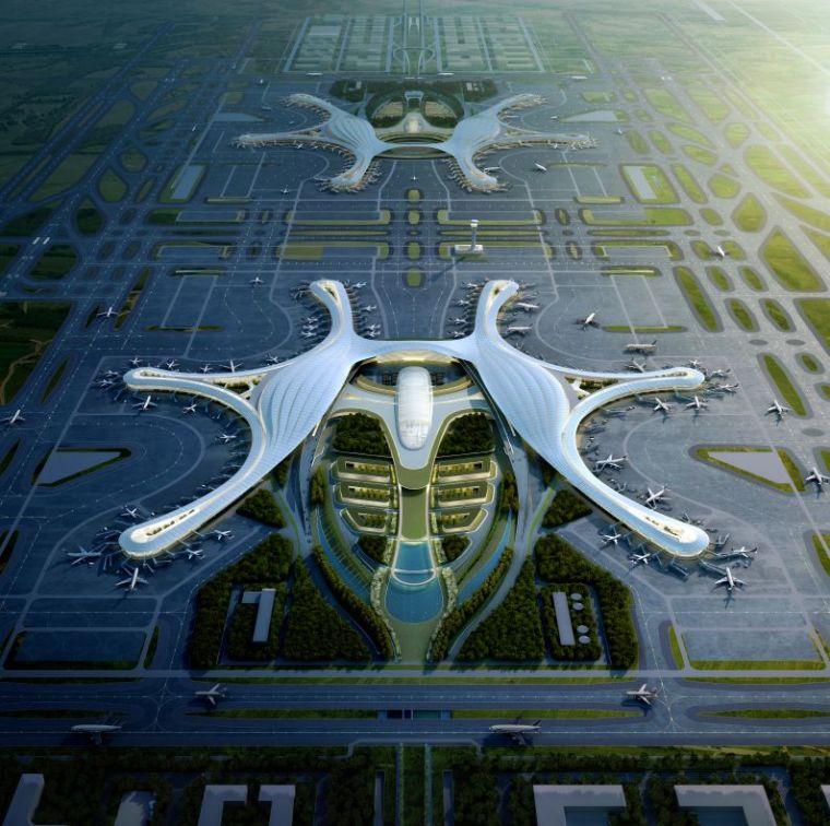 设计|成都天府国际机场已初见雏形_3