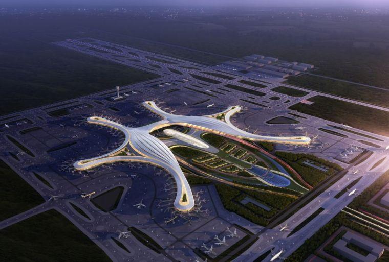设计|成都天府国际机场已初见雏形_7