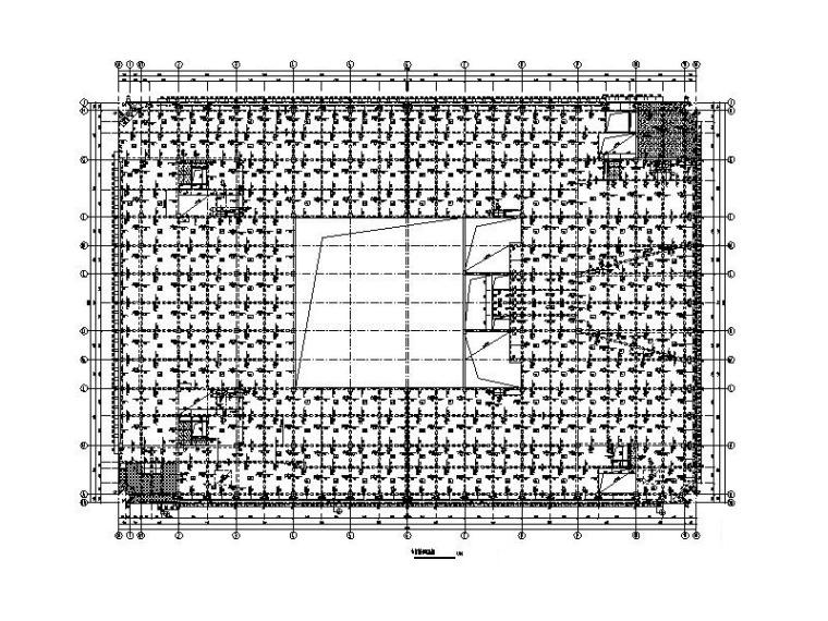 [长沙]6层框架结构图书馆建筑结构施工图