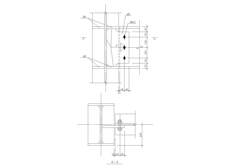 精选88个钢梁节点构造详图CAD