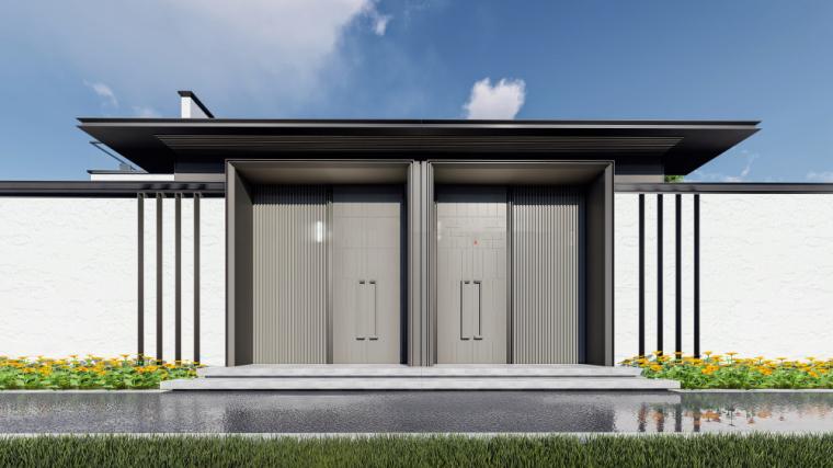 [上海]平湖新中式别墅海越府建筑模型设计