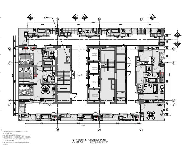 南通雅诗阁服务公寓样板间施工图+效果图
