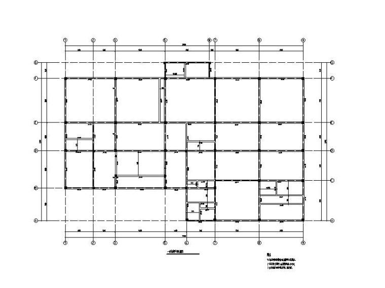 3层框架农场碾米厂建筑结构施工图2017