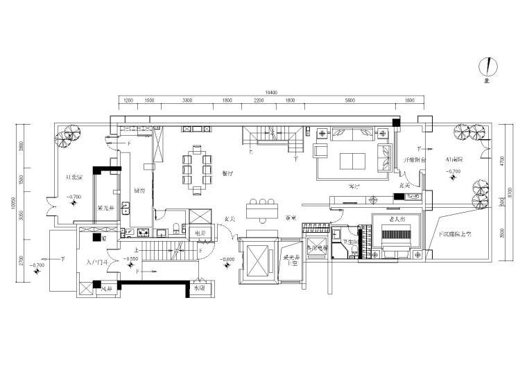[河南]-郑州雅居乐255-A1户型别墅施工图