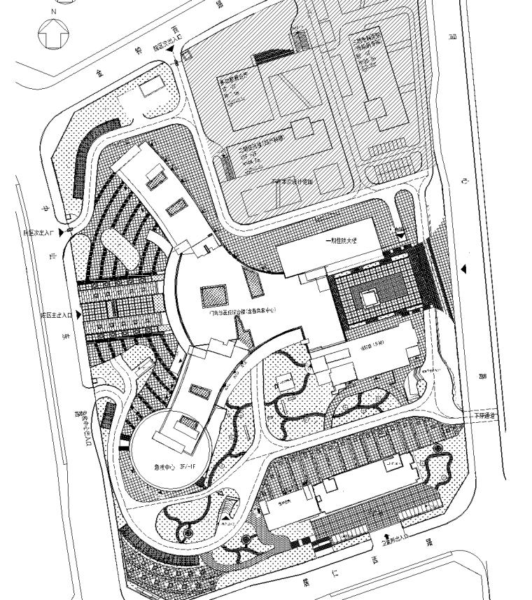 [贵州]人民医院整体搬迁景观CAD施工图