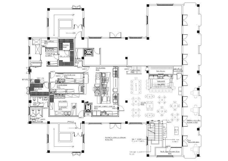 [上海]Morton'sGrille西餐厅施工图+实景