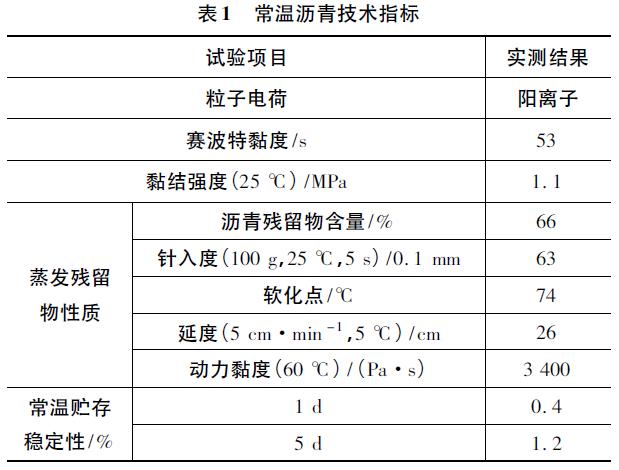 常温拌合沥青混合料薄层路面技术的应用
