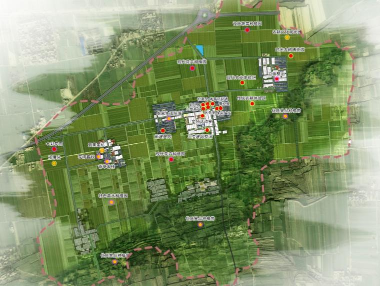 [陕西]省院渭南富平淡村镇荆川村村庄规划图
