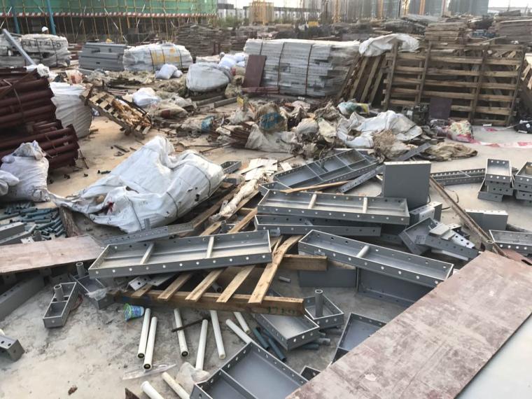 24楼层外拆包造成材料混乱和丢失