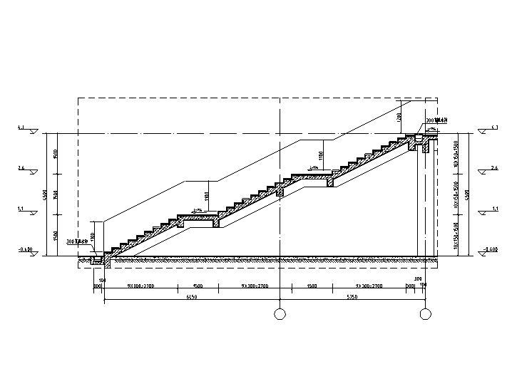 LT1樓梯1-1剖面圖