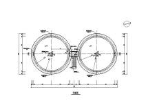 水厂结构施工图(预处理池/废水池/滤池等)