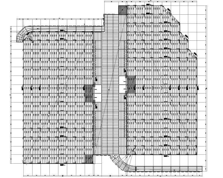 物流园仓库项目结构图(先张法预应力预制梁)