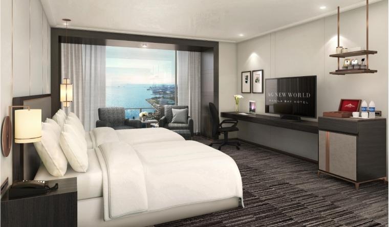 马尼拉海湾新世界酒店设计方案+彩平+效果图