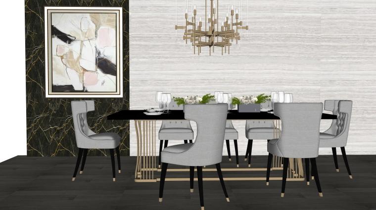 室内装饰摆件餐桌SU模型设计(2)