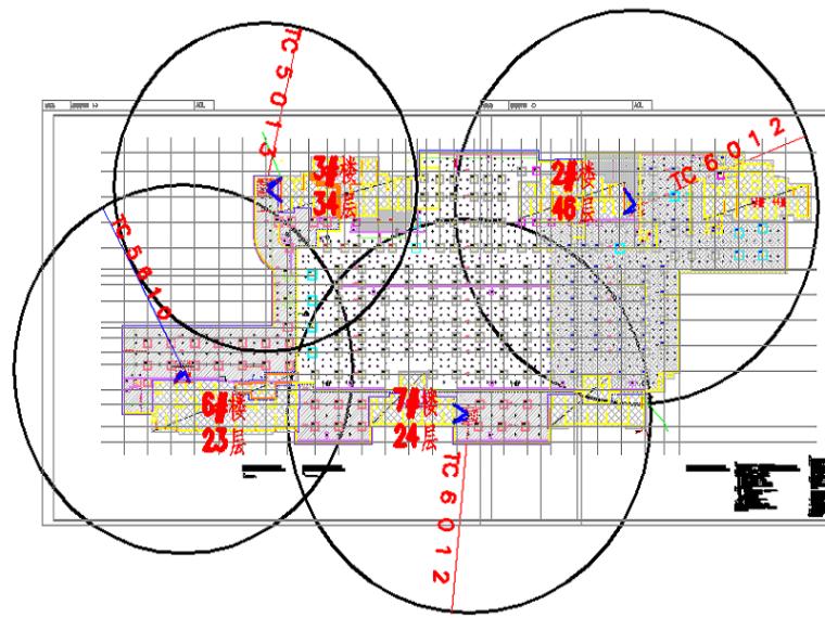 77塔吊平面布置图