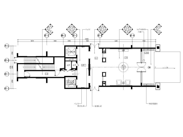 广州雅居乐项目首层大堂丨标准层电梯厅图纸