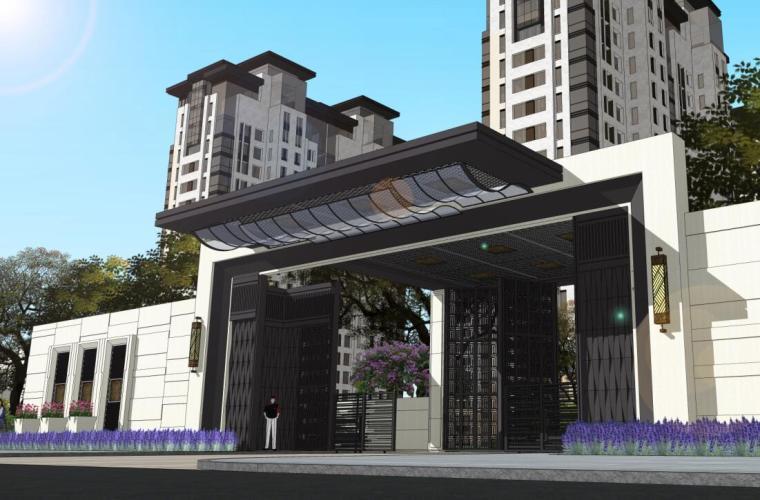 [江苏]新中式风格住宅景观概念设计方案