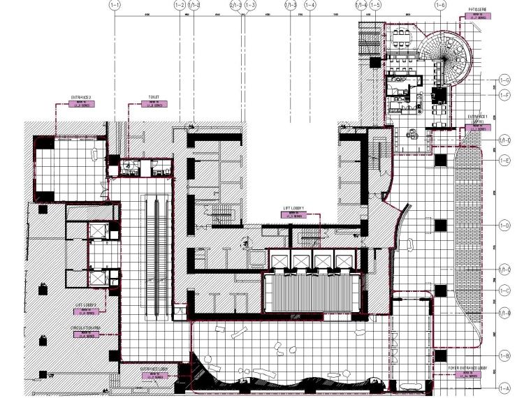 LTW-合肥君悦酒店室内装修全套CAD施工图
