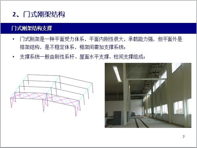 2门式钢架结构支撑