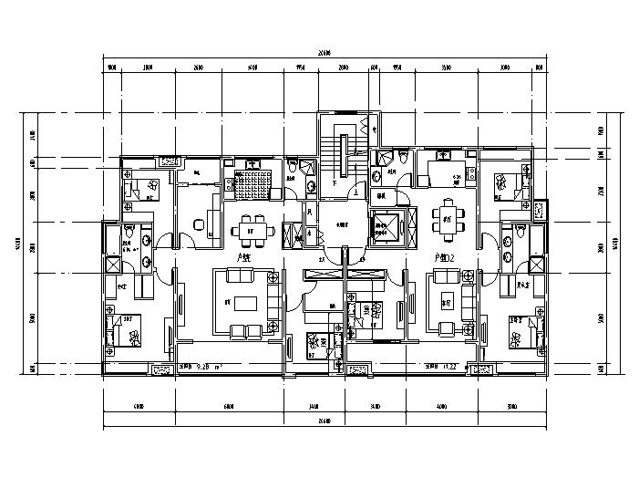 嘉兴城南路西常睦路南地块住宅户型图(CAD)