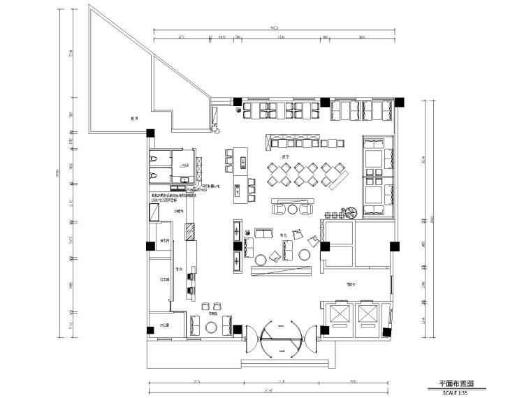 某喆啡酒店大堂丨客房施工图+效果图+物料