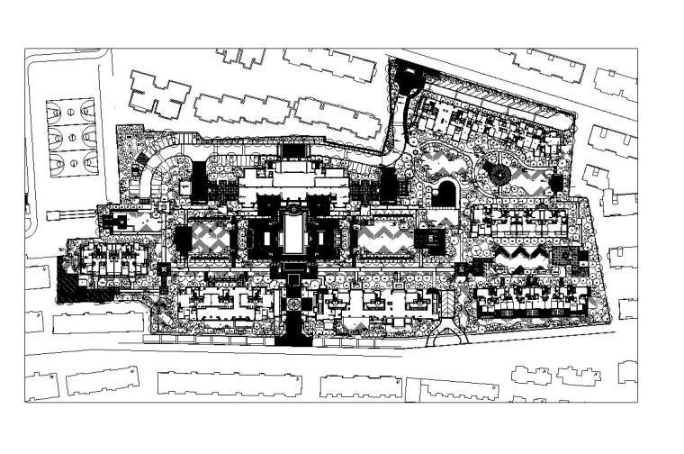 [浙江]杭州新华园住宅植物cad施工图设计图片