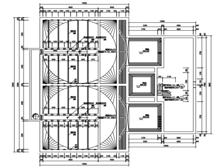 污水处理厂一层构筑物高效沉淀池结构施工图