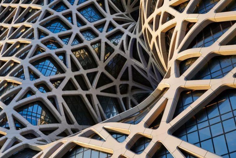 全球首个自由形态外骨骼网架结构幕墙_5